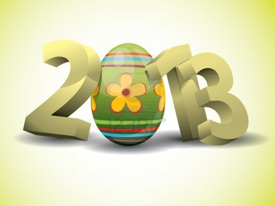 14249310-2013-easter-3d-text